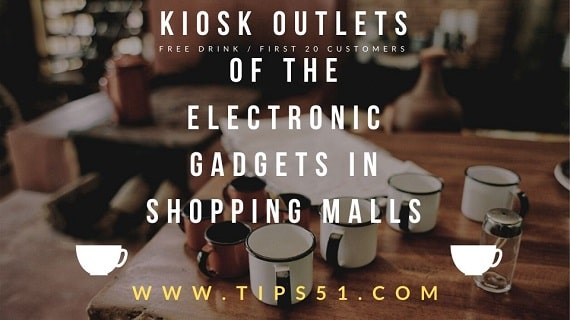 Kiosk Outlets Of The Electronic Gadgets In Shopping Malls
